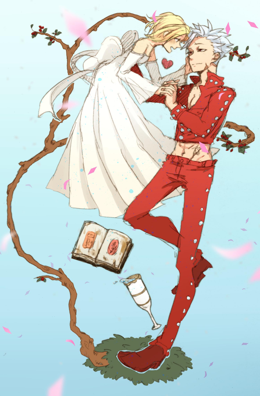 7 Deadly Sins Anime Drawing Ban X Elaine Ships Pinterest Seven Deadly Sins Anime Anime