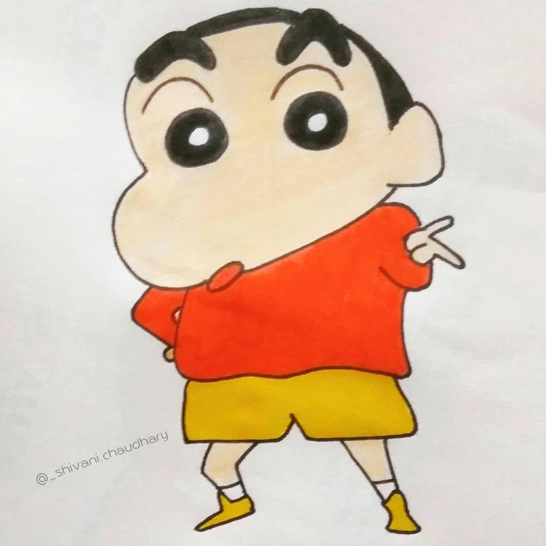 Cartoon Drawing Rangoli Kem Cho Shinchan Shinchanlover Shinchansketch Sketch