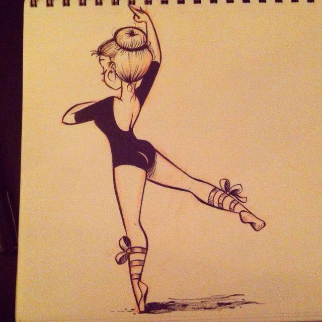Cute Drawing Inspiration Inspiration Inspiration Drawings Ballerina Drawing Art