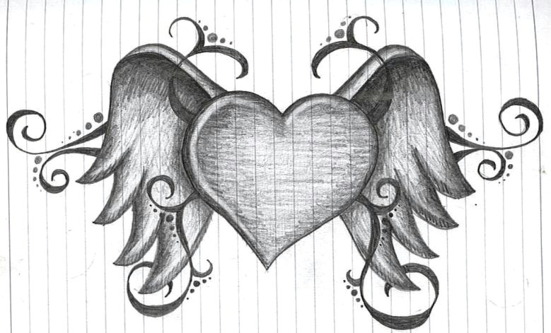 Detailed Drawing Of A Love Heart Heart with Wings by Amanda11404 Deviantart Com On Deviantart