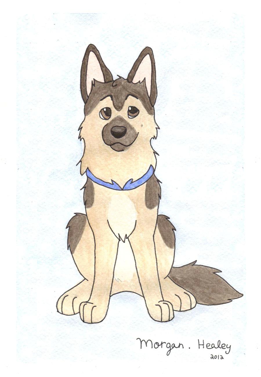 Dog Drawing to Copy German Shepherd by Teal Husky On Deviantart Art Paintings