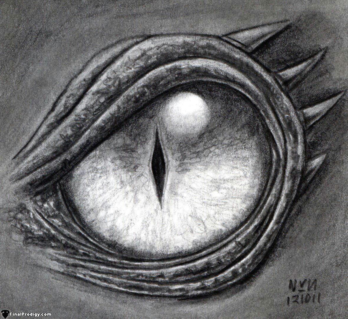 Dragon S Eye Drawing Tutorial How to Draw A Dragon Eye Step by Step Step 8 Define the Dark