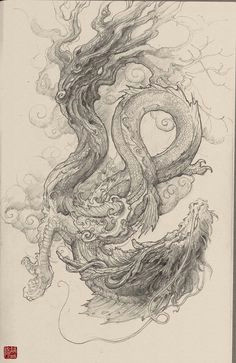 Dragon S Lair Drawing 337 Best Chinese Dragons Images Chinese Art Japanese Art