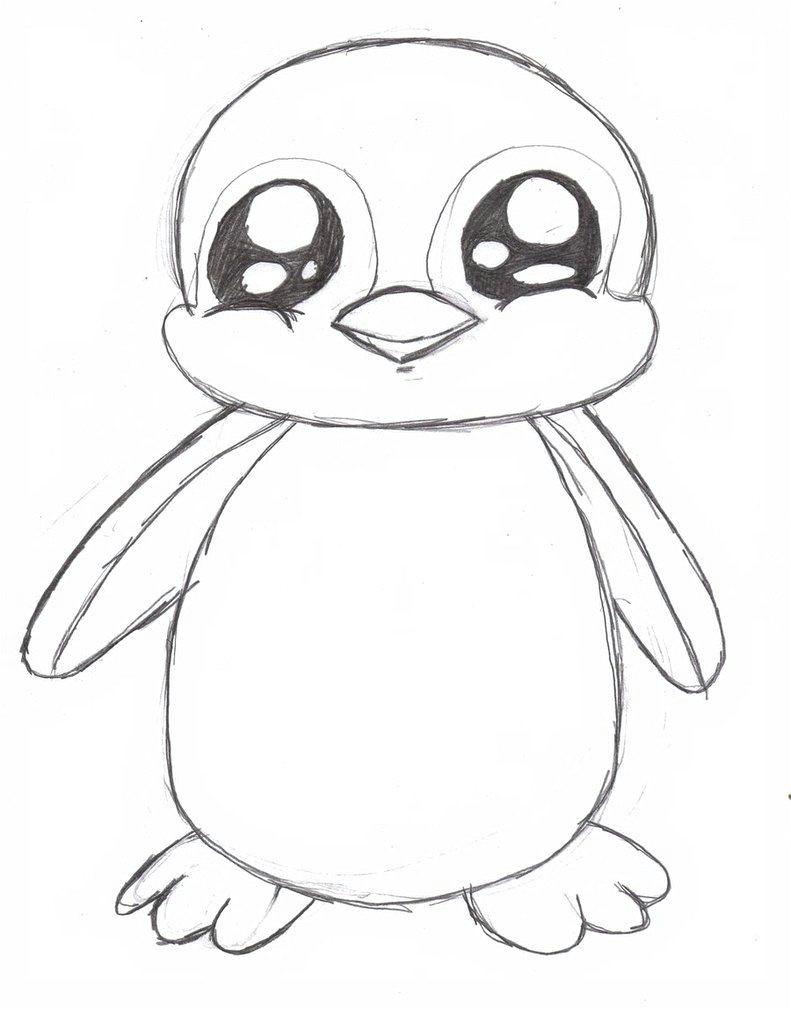 Drawing A Cartoon Penguin Penguin Drawing Google Search Penguins Pinterest Drawings