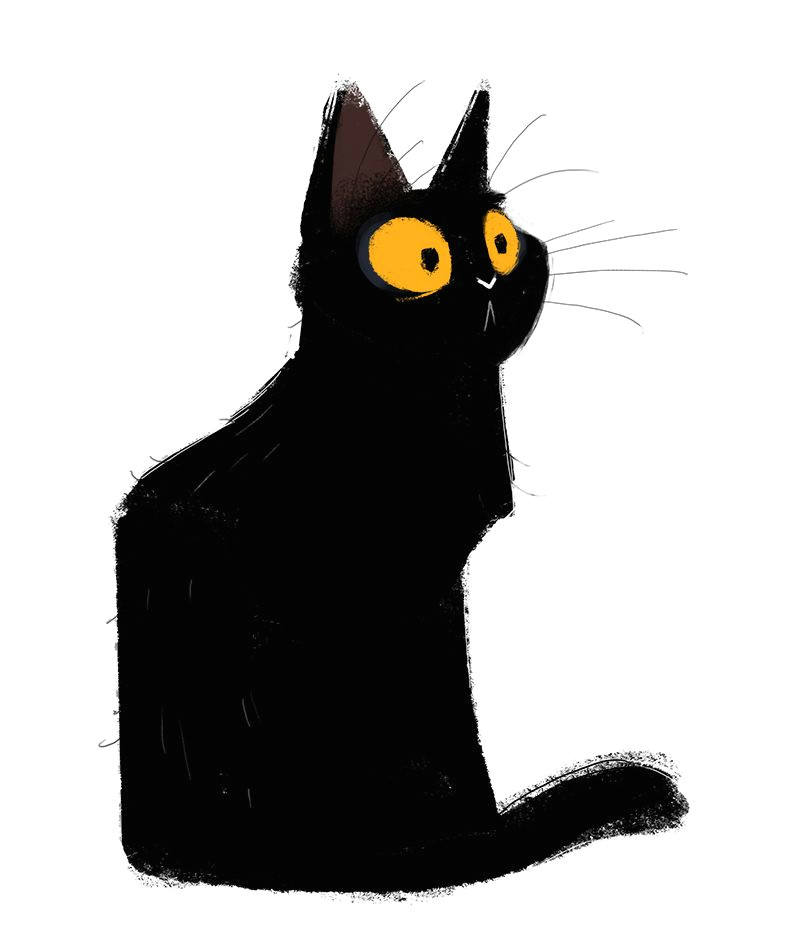 Drawing A Cat Quickly Dailycatdrawings 551 Black Cat Sketch Quick Sketch with A Weird