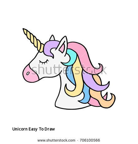 Drawing A Easy Unicorn Unicorn Easy to Draw Prslide Com