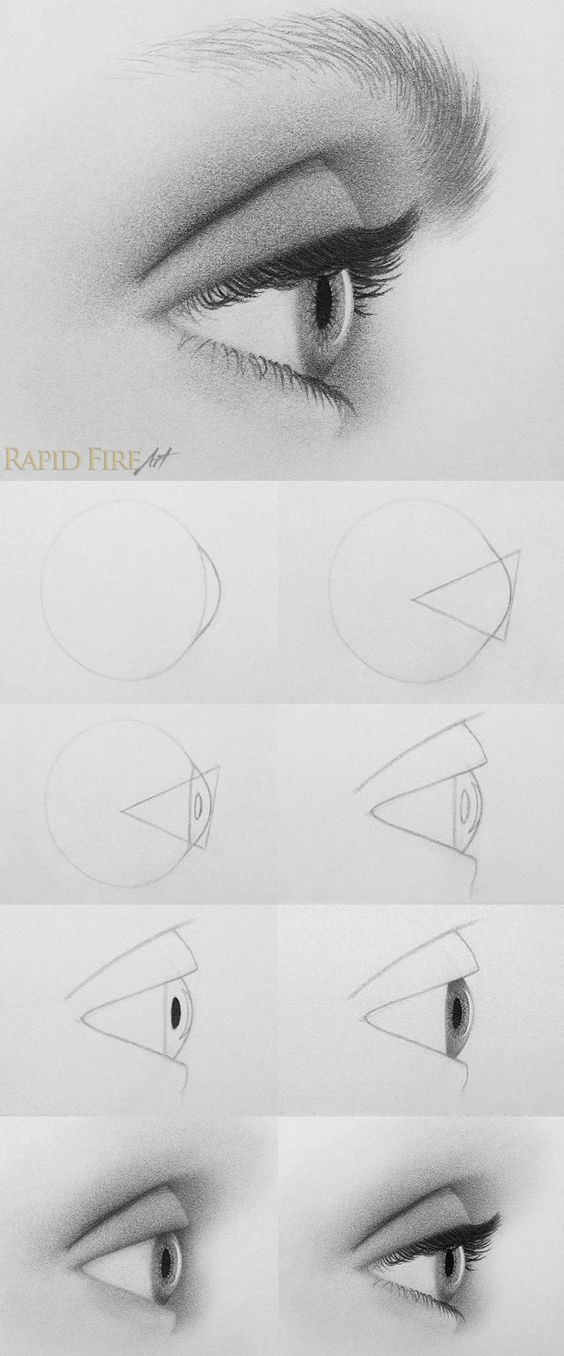 Drawing An Eye Tutorial Tutorial How to Draw An Eye From the Side Http Rapidfireart Com