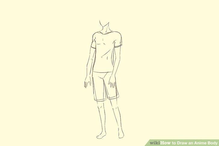 Drawing Anime Body Step by Step 5 Ways to Draw An Anime Body Wikihow