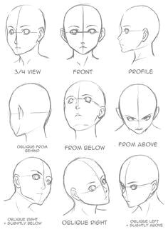 Drawing Anime Head Angles Face Angles Drawings Drawings Drawing Tips Drawing Heads