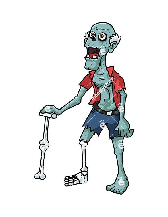 Drawing Cartoon Old Man Old Man Zombie Cartoon Clipart Vector Zombie Clipart Zombie