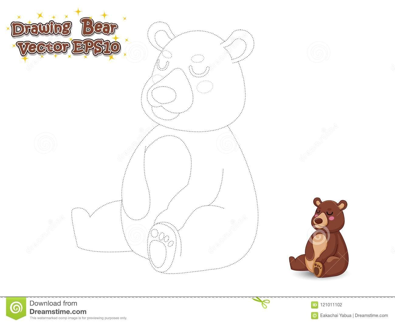 Drawing Cartoons Bear Drawing and Paint Cute Bear Cartoon Educational Game for Kids