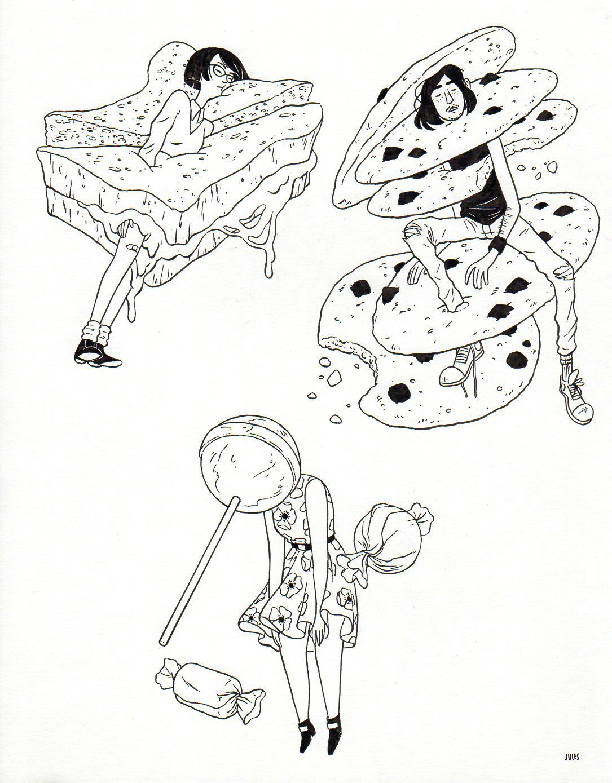 Drawing Cookie Tumblr Julian Callos Illustration Food Illustration Illustration Draw