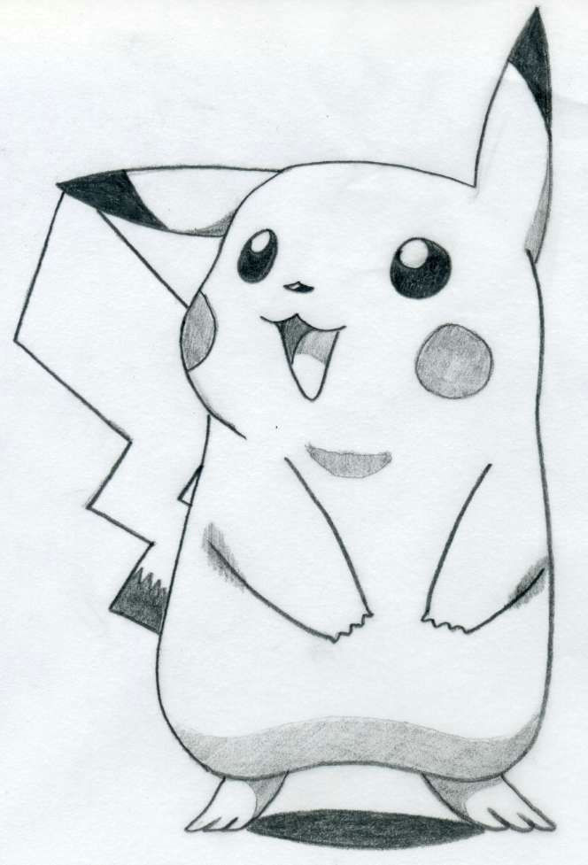 Drawing Cute too Easy Pictures to Draw How to Draw Pikachu Anime Pinterest