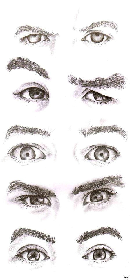 Drawing Different Eye Expressions even without the Color I Know who is who and these are the Most