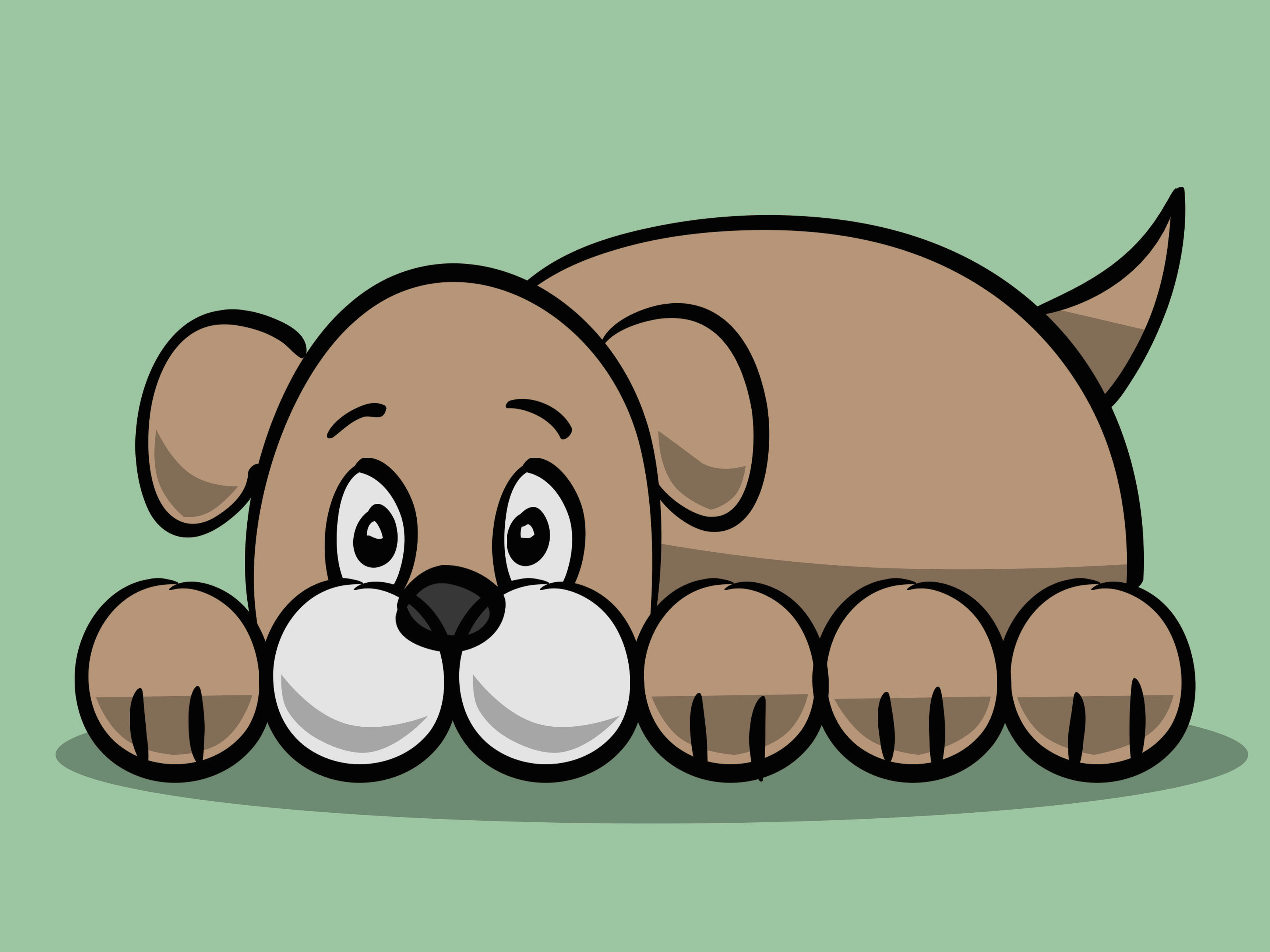 Drawing Dogs Blood How to Draw A Simple Cartoon Dog 11 Steps with Pictures