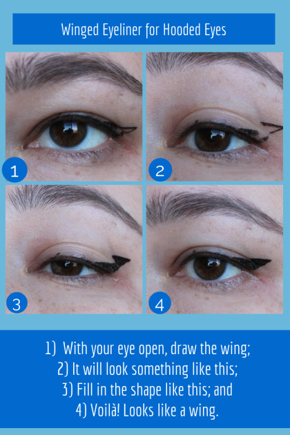 Drawing Droopy Eyes Graphic Winged Eyeliner for Hooded Eyes Project Swatch Random