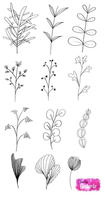 Drawing Easy Leaves Doodle Florale Elemente Fur fortgeschrittene Note Pinterest