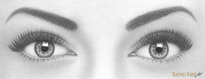 Drawing Eyes Shine How to Draw A Pair Of Realistic Eyes Rapidfireart
