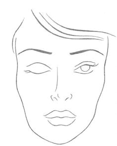 Drawing Makeup Things 92 Best Face Charts Images