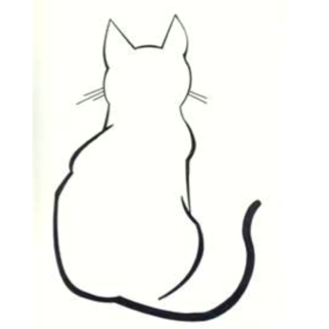 Drawing Of A Cat Lying Down Sitting Cat Sketch Sketch Cat S