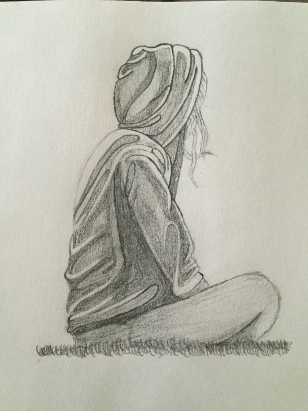 Drawing Of A Depressed Girl Depression Sketch Quote Sketch Pinterest Draw Sketches and Art