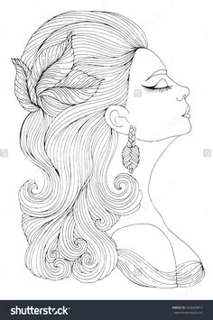 Drawing Of A Girl Colored 267 Best Women to Color Images In 2019 Coloring Pages Coloring