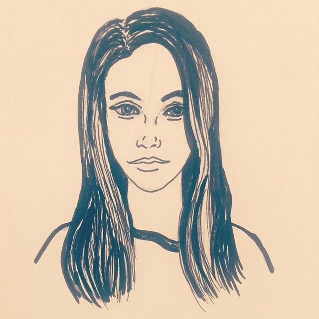 Drawing Of A Girl Instagram Instagram Girl Art Illustration Sketch Drawing Graphic Markers