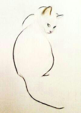 Drawing Of A Small Cat Pin by Klaudia Wojcieska On Rysowanie Kota W Drawings Cat Art Art
