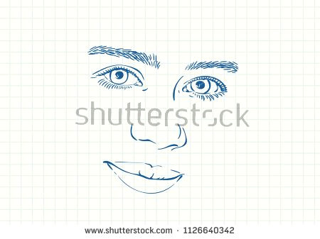 Drawing Of A Thick Girl Beautiful Smiling Face Of Teenage Girl with Beautiful Eyes and Thick