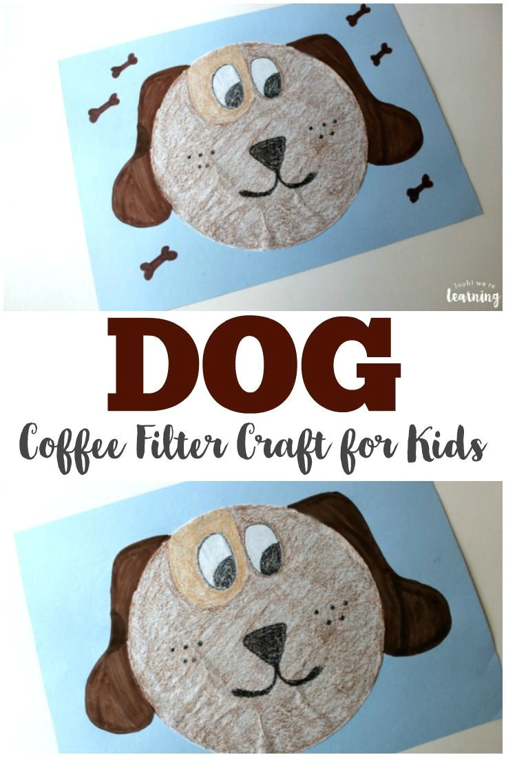 Drawing Of Dog Filter Simple Coffee Filter Dog Craft for Kids Give Dog A Donut