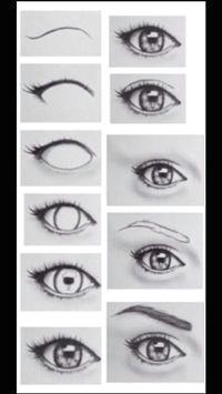 Drawing Of Eyes Sideways Step by Step Eye Drawing My Board Drawings Art Drawings
