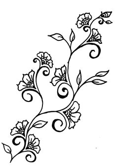Drawing Of Flowers and Vines 72 Best Leaves and Vines Images Drawings Leaves Paint