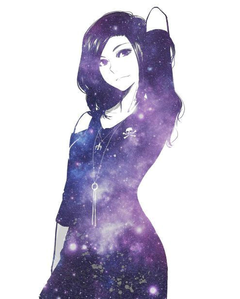 Drawing Of Galaxy Girl Perished Galaxy Girl Mas Anime Pinterest