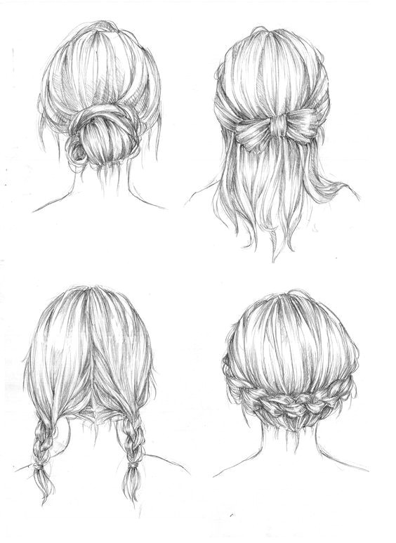 Drawing Of Girl Back Back View Of A Person Drawing Drawing Art Hair Girl People Female