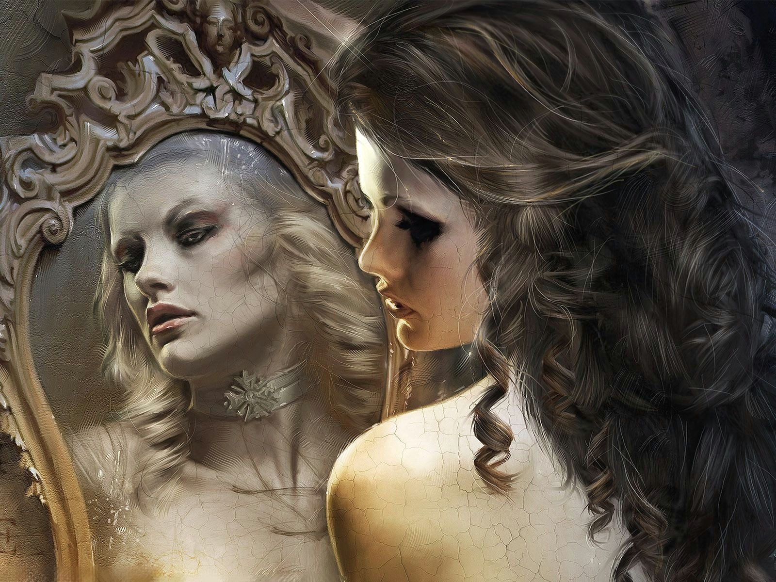 Drawing Of Girl Looking In Mirror Looking Into A Mirror Wallpaper Girl Looking In the Mirror
