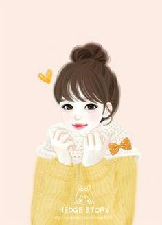 Drawing Of Korean Heart 190 Best Cute Korean Cartoons Images Drawings Illustration Girl