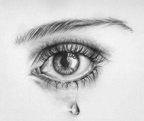 Drawing Of Real Eye Pencil Sketch Of Eye Crying Drawings Drawings Art Drawings