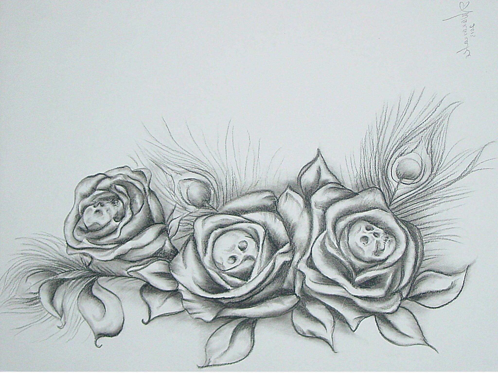 Drawing Of Rose Background Skull Rose Tat My Stuff Pinterest Rose Tat Tatting and My