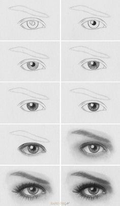 Drawing Realistic Eyes In Illustrator How to Draw A Realistic Eye Art Drawings Realistic Drawings