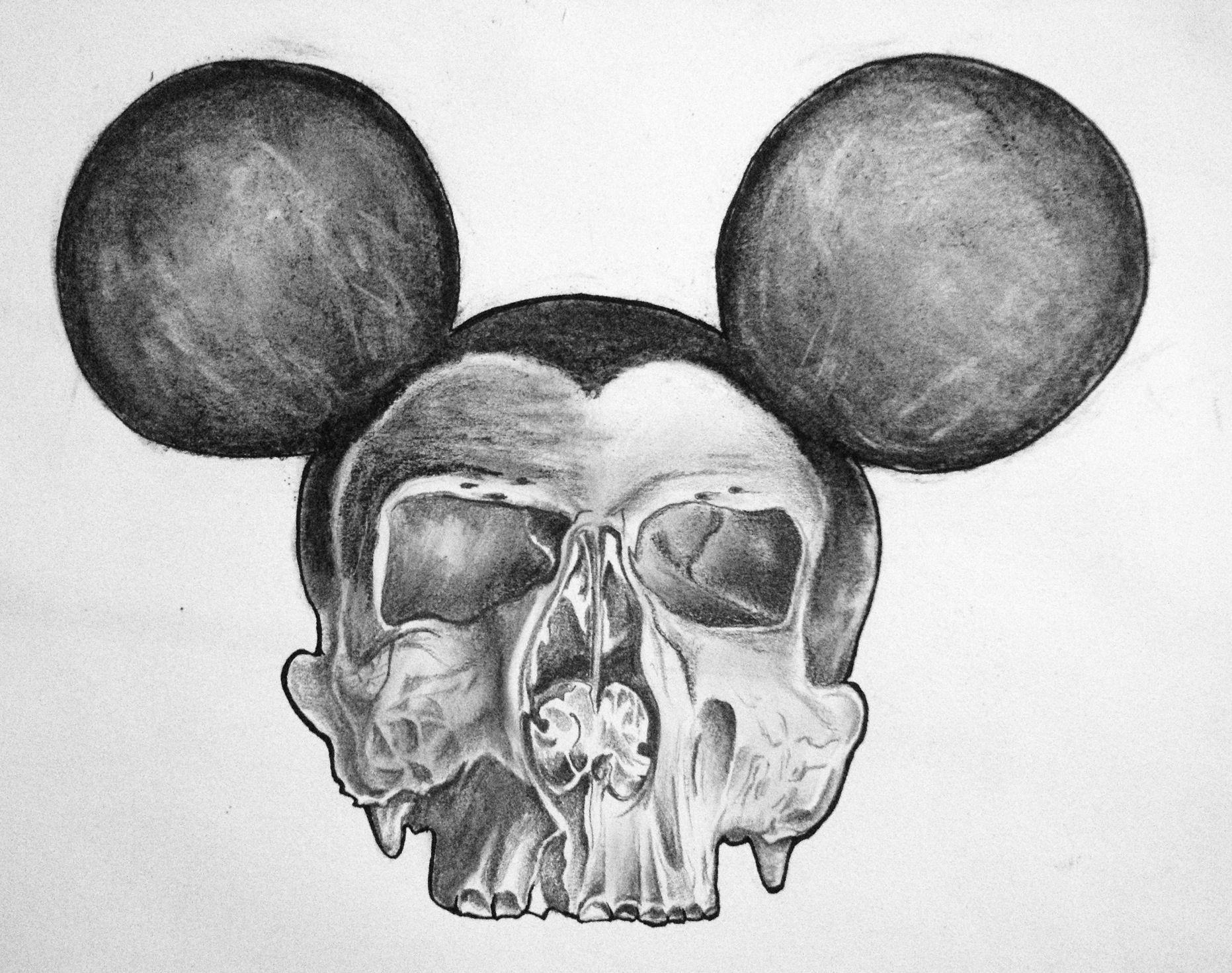 Drawing Skull Model Dead Mouse Drawing Pencil Charcoal Skulls Skull Dead Mouse Art