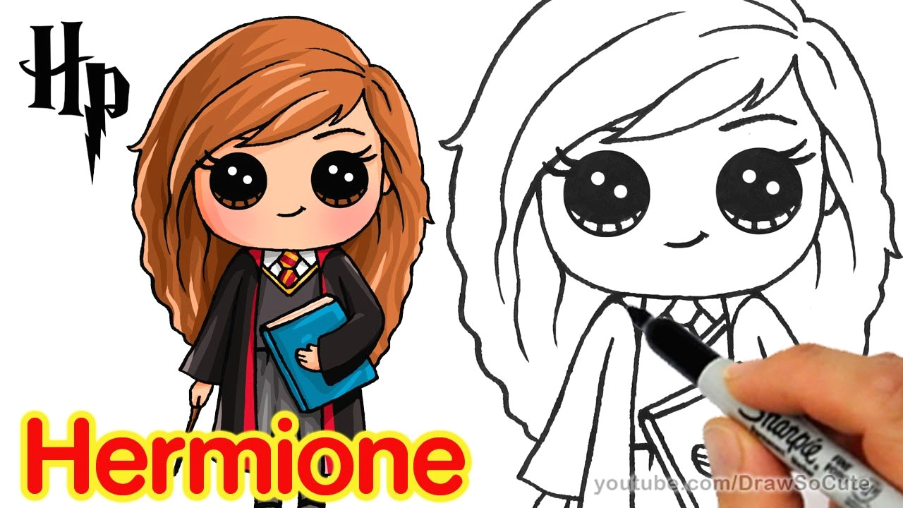 Drawing so Cute Harry Potter How to Draw Hermione Easy Harry Potter Youtube