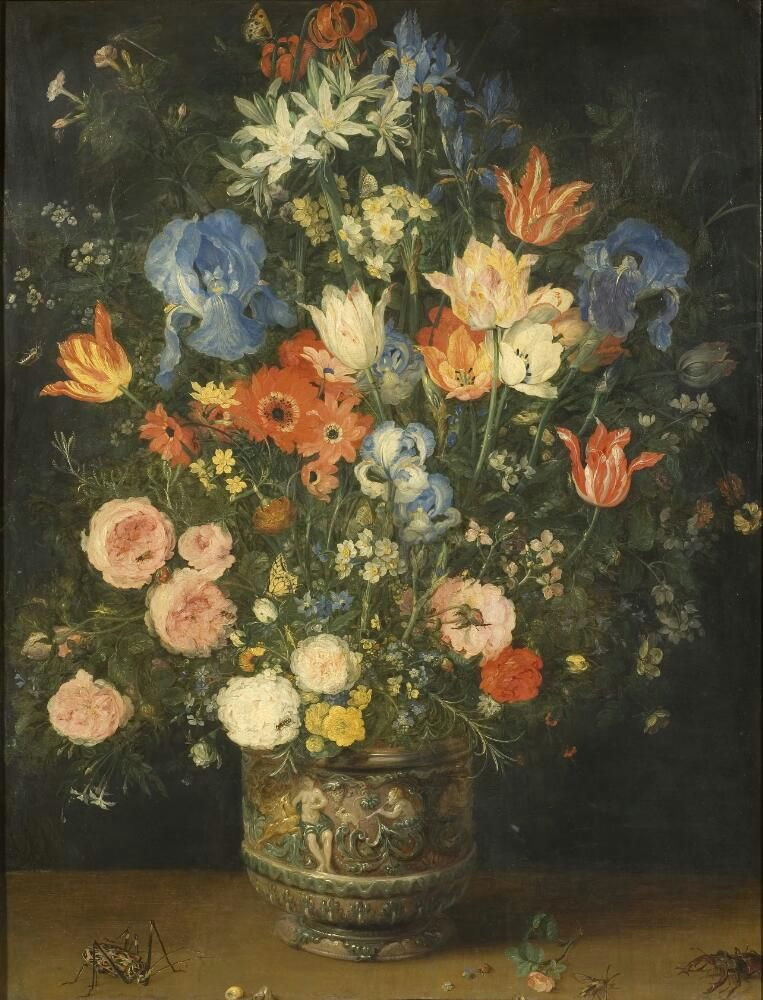 Drawing Still Life Flowers Title Still Life with Flowers and Insects Jan Bruegel D A Still