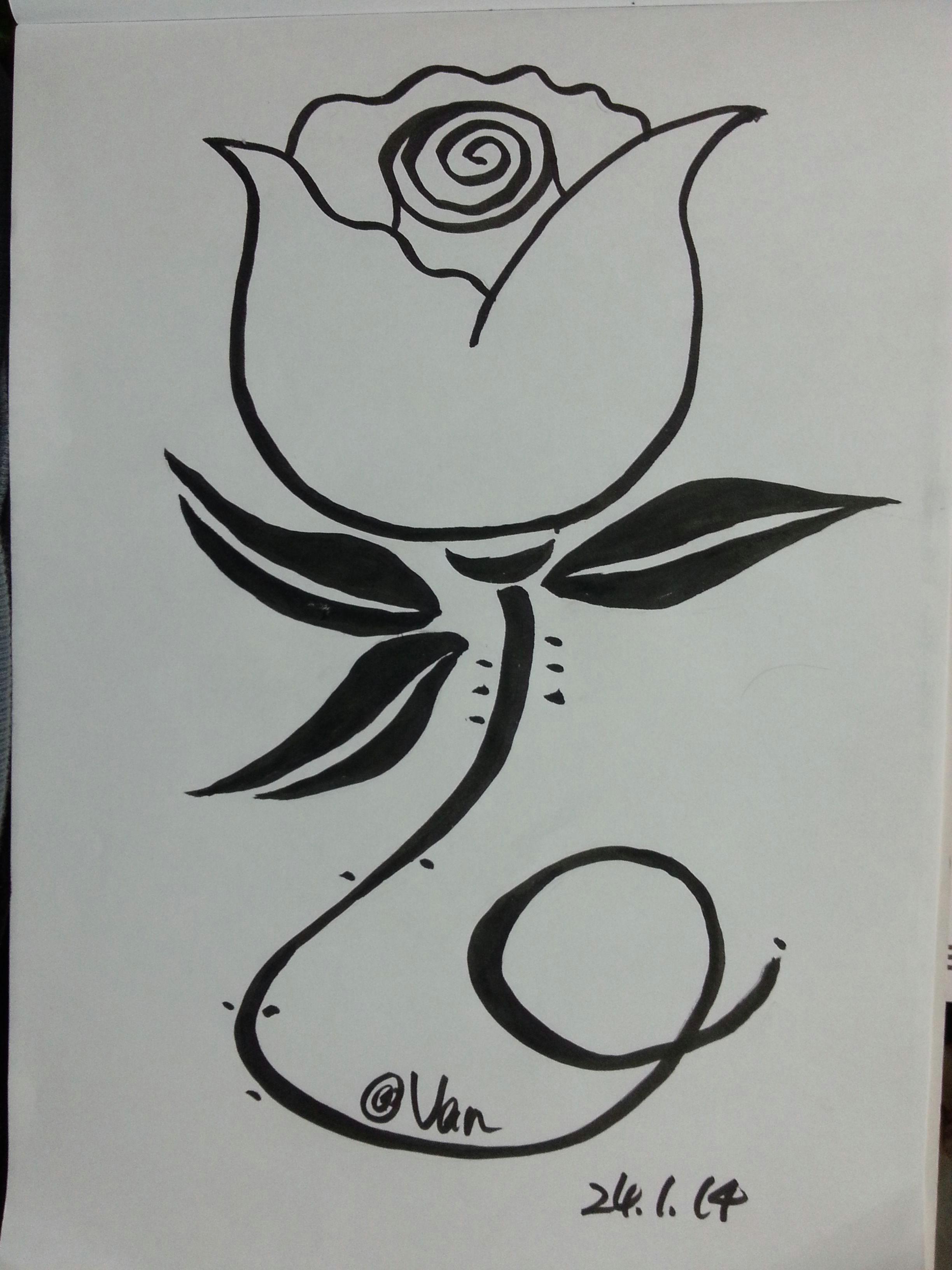 Drawings Of Big Roses Big Head Rose My Flower Drawing Flowers My Flower Rose