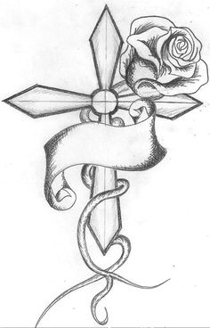Drawings Of Crosses with Roses 104 Best Cross Tattoos Images Cross Tattoo Designs Crosses