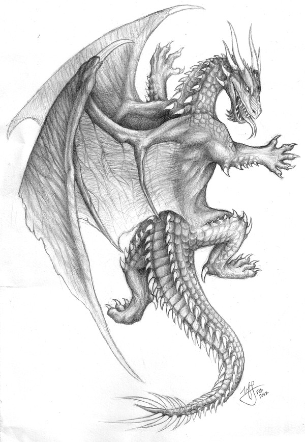 Drawings Of Dragons In Pencil This Pencil Drawing Of A Climbing Dragon is Probably the Design I Ve