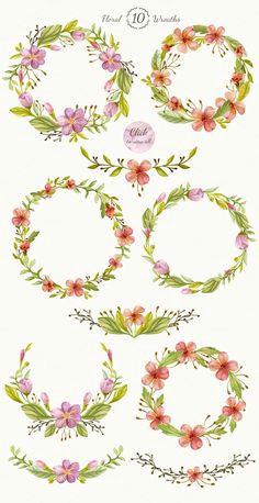 Drawings Of Flower Wreaths 38 Best Printables Wreaths Images Floral Wreath Moldings Paintings