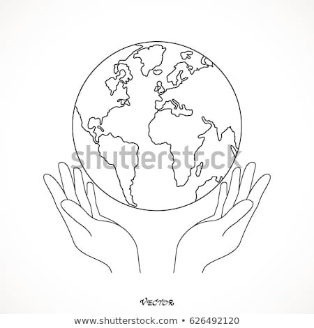 Drawings Of Hands Holding the Earth Hands Holding Globe Earth Web Black Stock Vector Royalty Free
