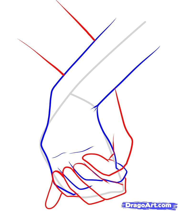 Drawings Of Hands Step by Step How to Draw Holding Hands Step 10 Drawings Drawings Art Painting