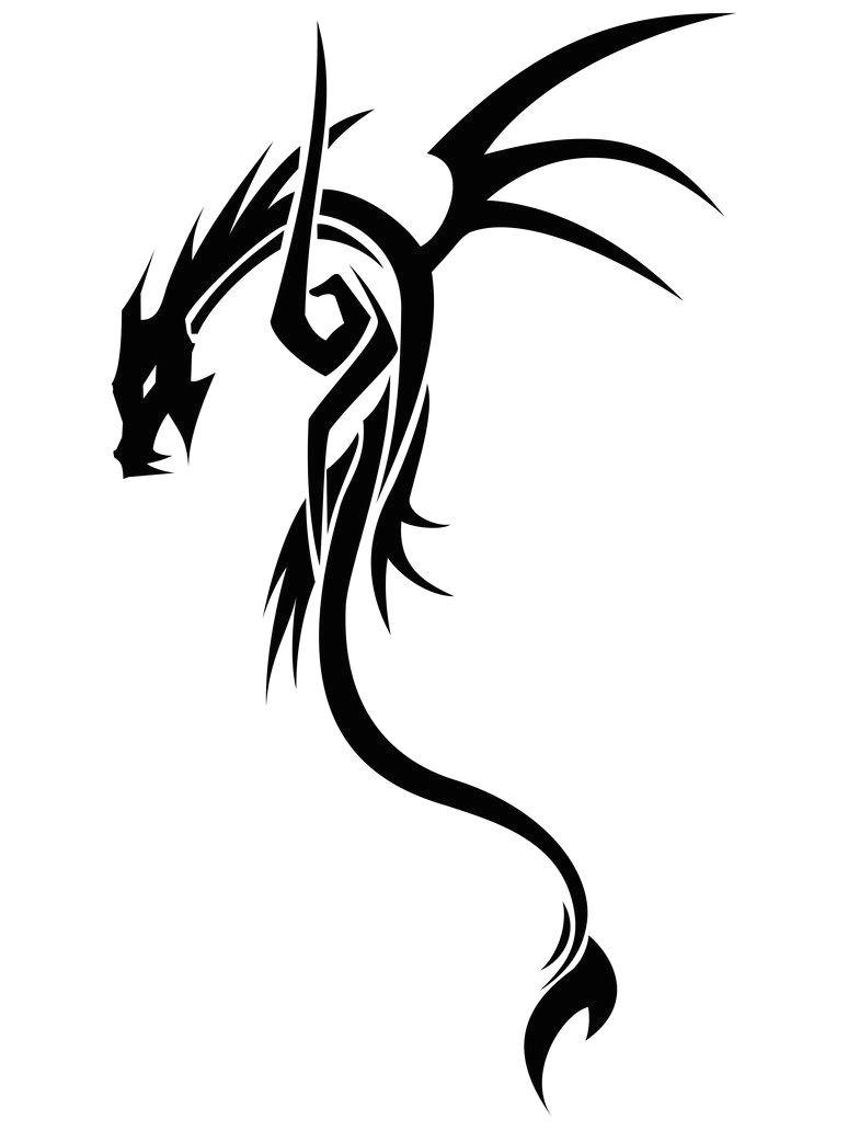 Drawings Of Tribal Dragons Dragon Tribal Tribal Drawing Pinterest Drache Ritter Und Drachen