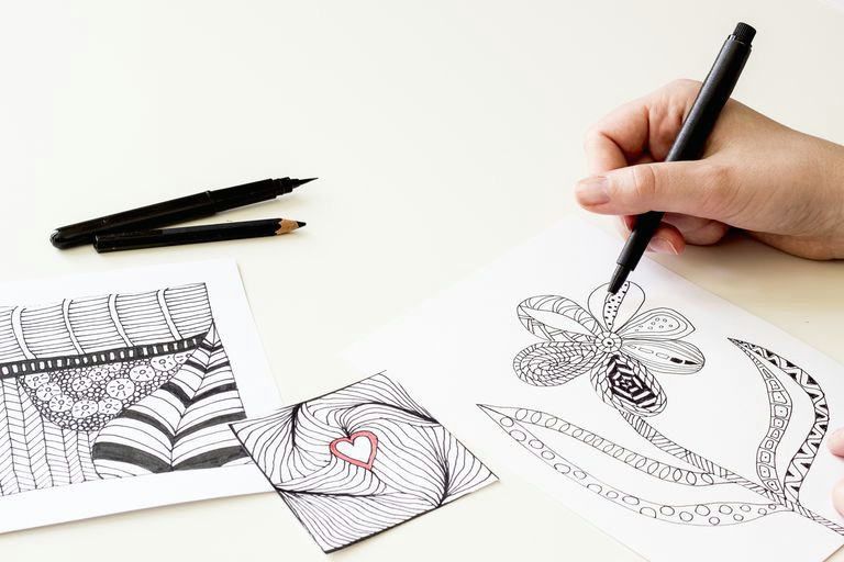 Easy 2 Minute Drawings Drawing Art therapy and Stress Relief